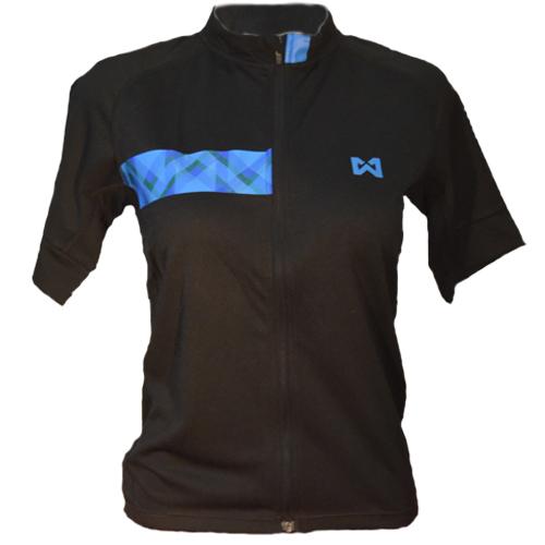 Men's Sportswear Style 3 เสื้อจักรยานผู้ชาย แบบที่ 3 สีดำแถบฟ้า