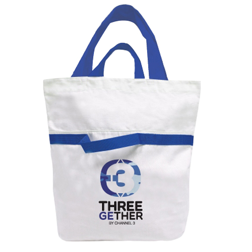 Bag Canvas 2 in 1 (Blue) <br />กระเป๋าแคนวาส 2 อิน 1 สีฟ้า