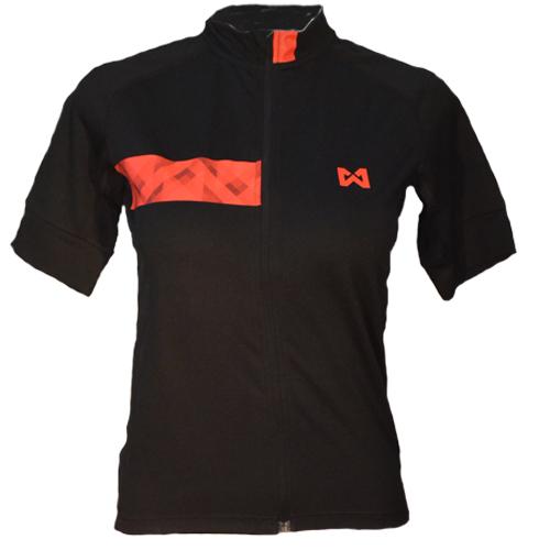 Women's Sportswear Style 3 เสื้อจักรยานผู้หญิง แบบที่ 3 สีดำแถบแดง
