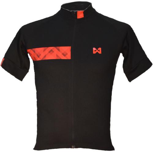 Men's Sportswear Style 3 <br />เสื้อจักรยานผู้ชาย แบบที่ 3 สีดำแถบแดง