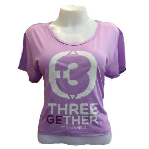 Crop T-Shirt (Purple) <br />เสื้อลำตัวสั้นสีม่วง