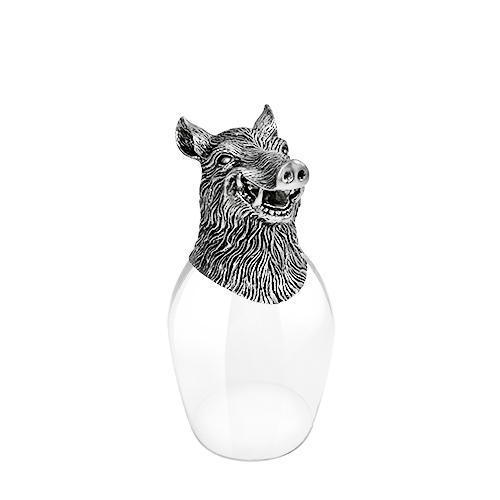 Wine Glass 12 Chinese Zodiac - Boar