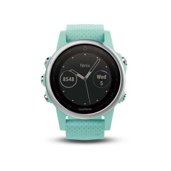 Garmin fenix 5S Frost Blue Tone Sapphire with frost blue band