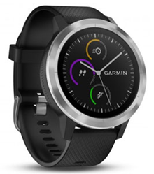 Garmin vivoactive 3 ดำ (Black & Stainless)