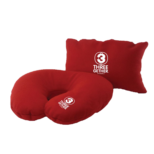 Pillow TV3 2 in 1 (Red) <br />หมอนรองคอสีแดง