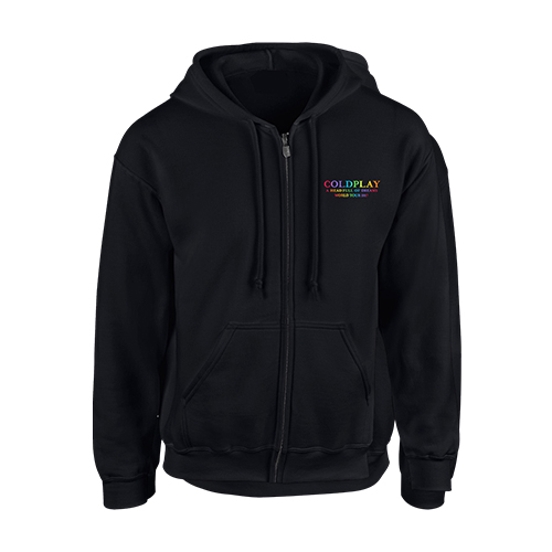 Coldplay FOL Black Zip Hood