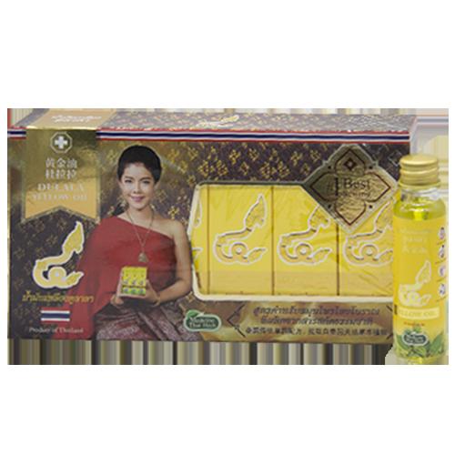 น้ำมันเหลือง ดูลาลา แพ็ค 6 ชิ้น 24 ml. 杜拉拉黄金油