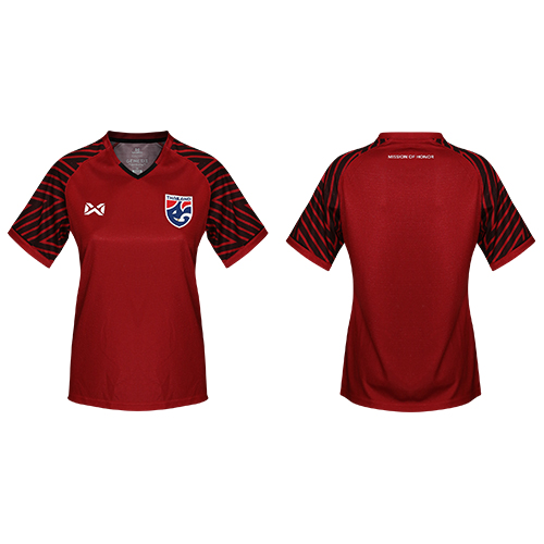เสื้อเชียร์ทีมชาติไทย 2018 (ผู้หญิง) สีแดง